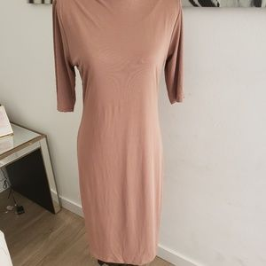 Shine star midi nude dress
